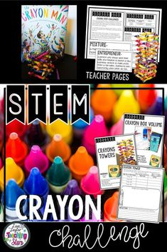 Are you looking for fun STEM activities that connects to the book The Crayon Man: The True Story of the Invention of Crayola Crayons? Crayon STEM Challenges give students the opportunity to research the invention of crayons and the inventor of Crayolas. Students will compare entrepreneurs and inventors. Your students will love designing, creating, and engineering. Students will problem solve and think critically as they complete their challenges. Maker Spaces, STEM Labs