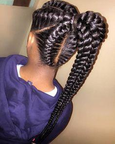 ponytail from goddess braids