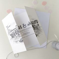 Bespoke Order of Service including a gorgeous hand illustrated image of your Church or venue. Unique Wedding Stationery, Personalized Wedding, Personalized Items, Order Of Service, Hand Illustration, Wedding Venues, Invitations, Wedding Reception Venues, Wedding Places
