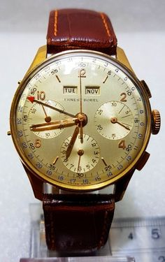 This is a 18k gold very collectable watch, it's a triple calender and chronograph, this is a very special dress watch.