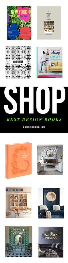 The best, most inspiring new design coffee table books to shop now.
