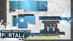 BRIDGE CONSTRUCTOR PORTAL - Level 32 to 35! (Gameplay)