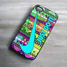 Aztex Pattern iPhone Case Nike Just Do It Mint, Print On Hard Cover, iPhone 4 Case, iPhone 4S Case, iPhone 5 Case