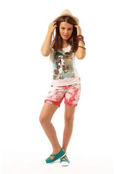 Lookbook Chipie Junior Summer 2014 - Chipie Warm And Cold Colours, Tween Clothing, Junior, Lookbook, Sportswear, Denim, Clothes, Collection, Color
