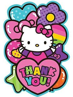 Show your appreciation with our Rainbow Hello Kitty Thank You Notes! Bright Hello Kitty thank you notes allow you to personalize your thank you notes in style. Hello Kitty Fotos, Hello Kitty Pictures, Hello Kitty Party Supplies, Kids Party Supplies, Hello Kitty Backgrounds, Hello Kitty Wallpaper, Little Twin Stars, Sanrio, Keroppi