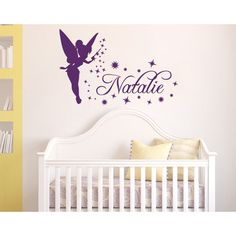 Decal House Tinkerbell Personalized Name Wall Decal Color: Metal Silver