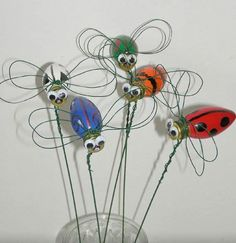 Recycled light bulb bugs