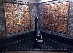 Celtic tiles celtic designs Set of 4 copper by MyCopperCraft