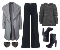 """""""Cropped flares!"""" by redapplecigarettes ❤ liked on Polyvore featuring moda, dVb Victoria Beckham, Belstaff, ONLY, women's clothing, women's fashion, women, female, woman e misses"""