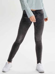 Only Ivy sl stud Skinny Fit Jeans Skinny Fit Jeans, Super, Ivy, Studs 2faae3ca77
