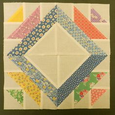 I love this cute paper piecing block.... If I ever tackle paper piecing--I will give it a try!