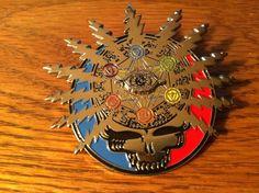 Grateful Dead Hat Pins | Grateful Dead Steal ur chakras hat pin by DeadyDesignz on Etsy