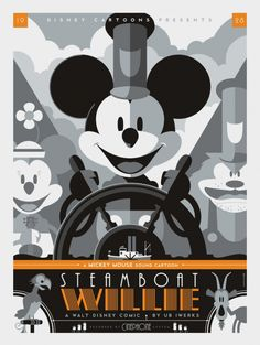 Mondo: The Archive   Tom Whalen - Steamboat Willie, 2011