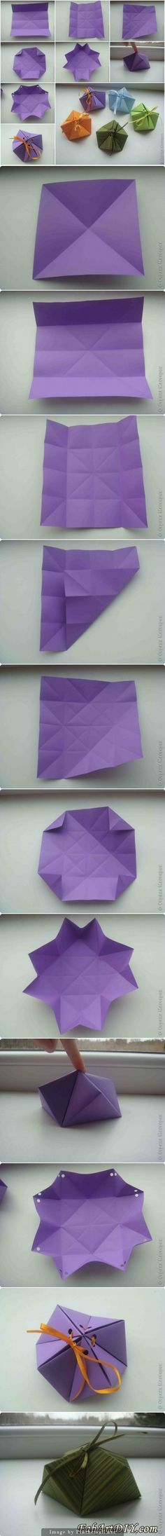 http://www.fabartdiy.com/how-to-diy-paper-origami-gift-box/ - created via http://pinthemall.net