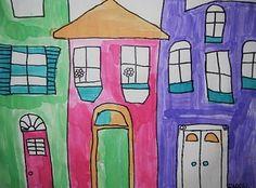 buildings school-art-projects