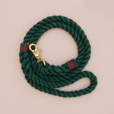 Rope dog handmade leash - pet supplies - dog leash - Soft cotton rope leash -Hand made cotton rope leash - The rope ends are spliced then whipped with Lasso's original knots for durability.