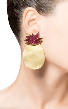 Red Pineapple Earrings by SILHOUETTE for Preorder on Moda Operandi
