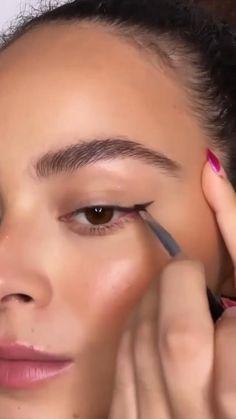 Makeup Looks Tutorial, Smokey Eye Makeup Tutorial, Eye Makeup Steps, Makeup Eye Looks, Subtle Eye Makeup, Natural Brown Eye Makeup, Easy Eye Makeup, Brown Smokey Eye Tutorial, Perfect Eyebrows Tutorial