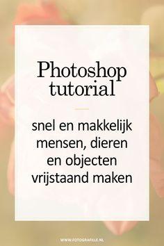 Tutorial – snel en makkelijk objecten vrijstaand maken in Photoshop With this I show how you can easily Photoshop Tutorial, Photoshop Design, Photoshop Logo, Cool Photoshop, Photoshop Actions, Advanced Photoshop, Lightroom, Photoshop For Photographers, Photoshop Photography
