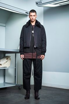 Siki Im presented its Fall/Winter 2017 collection during New York Fashion Week Men's. Sustainable Looks, Cool Mustaches, Urban Fashion, Mens Fashion, Navy Bomber Jacket, Urban Cowboy, Student Fashion, Winter Collection, New York Fashion
