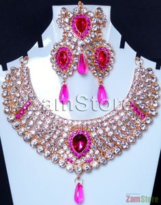Imitation Diamonds Cubic Zirconia, Perfect for Bride! White and Magenta. $35.00.