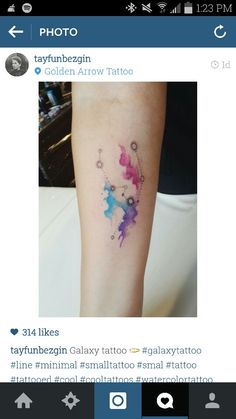 Watercolor constellation tattoo... <3