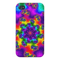 Customizable Tye-Dye Floral Sprinkles Glossy iPhone 4 Case on sale at www.zazzle.com/wonderart* or click on the picture to take you directly to the product.