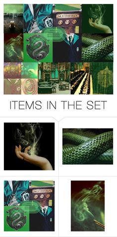 """""""Slytherin"""" by destinee-miller15 on Polyvore featuring art, harrypotter, slytherin, hogwarts, GREEN and SNAKE"""