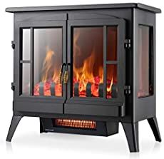 PuraFlame's #1 Energy Efficient Portable Electric Heater Recessed Electric Fireplace, Best Electric Fireplace, Electric Fireplace Heater, Electric Fireplaces, Portable Electric Heaters, Portable Heater, Electric Stove, Outdoor Electric Heater, Stove Fireplace