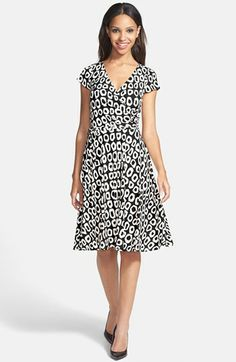 Maggy London Print Jersey Fit & Flare Dress (Regular & Petite) available at #Nordstrom
