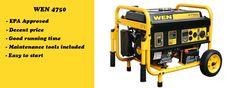 WEN 4750 watt portable power kit