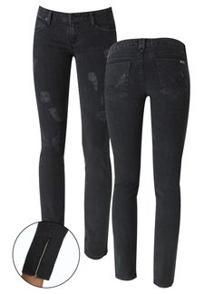 14eaa9077 Hudson Jeans Distressed Skinny with Ankle Zipper