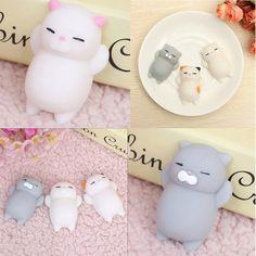 Mini Squishy Cat Seal Rabbit Cute Phone Straps Slow Rising Soft Press Squeeze Kawaii Bread Cake Kids Toy Phone DIY Accessories