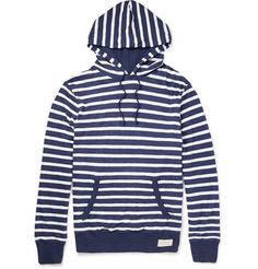 Polo Ralph Lauren Striped Melange Pima Cotton Jersey Hoodie