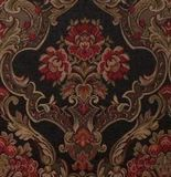STUNNING Victorian Red/Black/Gold Floral TAPESTRY Dual Purpose Fabric