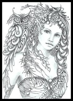 Fairy Tangles.  I love Norma's Fairy Tangles, especially the ones that include the owls!