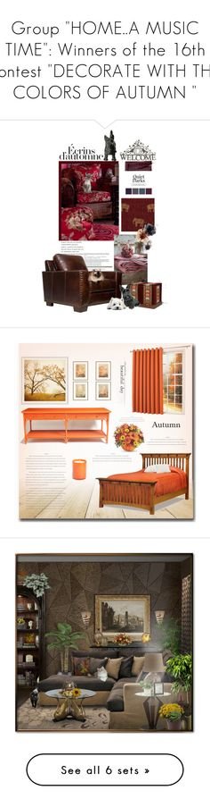 """Group ""HOME..A MUSIC TIME"": Winners of the 16th contest ""DECORATE WITH THE COLORS OF AUTUMN """" by nicolevalents ❤ liked on Polyvore featuring interior, interiors, interior design, home, home decor, interior decorating, Thomas Kinkade, Sun Zero, Pottery Barn and LAFCO"