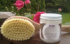 dry brush and coconut oil