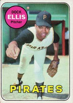 1969 Topps 286 Dock Ellis Pittsburgh Pirates baseball card