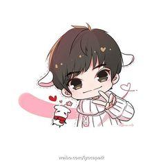 Chibi Boy, Bts Chibi, Anime Chibi, Anime Art, Fan Yang, Cute Love Memes, Jackson Yi, Kaneki, Manga