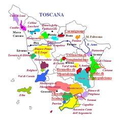 Mappa dei vini di Toscana