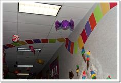 Candyland board throughout the hallway... could be around our room @Racheal Huffman Huffman Bailey