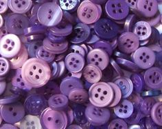 100 Purple Fusion Mixed Buttons  blackberry by moggyssupplyshop, $6.00