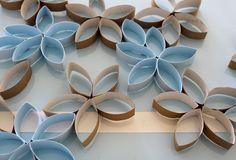 Déco faite avec des rouleau de papier toilette, quelle bonne idée de bricolage :)