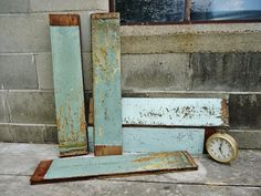 Historic Building Salvage   Wood Tongue & Groove Planks - Set of 5