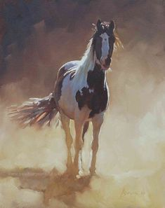 Horse painting by Paul Burgess