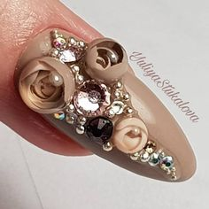 Candy Ball Nails - New Trend in Nail Art for Spring-Summer 2018 Rose Nails, 3d Nails, Nail Manicure, Fabulous Nails, Gorgeous Nails, Nail Design Spring, Nail Lacquer, Nails Only, Nail Candy