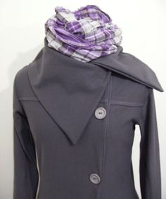 Organic Cotton Pea Coat Sweatshirt Eco Friendly by jennipink, $75.00