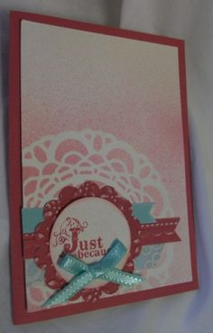 Julia's Cards: pretty in pink (well primrose petals actually! lol)