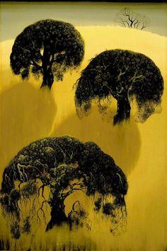 Eyvind Earle, Three Oaks, Famous Artists, American Artists, Illustration Art, Illustrations, Animation, Sculpture, Story Ideas